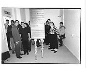 Walking painting. Degree show, 'Finger de Buffet' Cenral St  Martins. London. 27 June 1997. © Copyright Photograph by Dafydd Jones 66 Stockwell Park Rd. London SW9 0DA Tel 020 7733 0108 www.dafjones.com