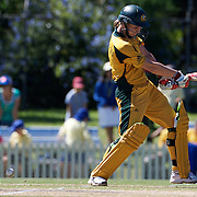 Leah Poulton is bowled by Sana Mir for 47 runs  during the match between Australia and Pakistan in the Super 6 stage of the ICC Women's World Cup Cricket tournament at Bankstown Oval, Sydney, Australia on March 16 2009, Australia won the match by 107 runs. Photo Tim Clayton