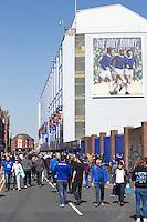 A general view of Goodison Park, home of Everton FC<br /> <br /> Photographer Stephen White/CameraSport<br /> <br /> Football - Barclays Premiership - Everton v Burnley - Saturday 18th April 2015 - Goodison Park - Everton<br /> <br /> © CameraSport - 43 Linden Ave. Countesthorpe. Leicester. England. LE8 5PG - Tel: +44 (0) 116 277 4147 - admin@camerasport.com - www.camerasport.com