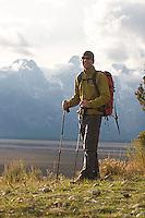 Stephen Koch backpacking in Grand Teton National Park, CA