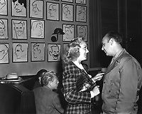 1942 Betty Grable & Jackie Coogan at the Brown Derby