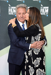 Dustin Hoffman and wife Lisa Hoffman arriving at the London Film Festival Premiere of The Meyerowitz Stories, London. Photo credit should read: Doug Peters/EMPICS Entertainment