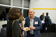 Greg Hargrove networks at the Silicon Valley Business Journal's Scale Up event at the Computer History Museum in Mountain View, California, on November 13, 2018. (Stan Olszewski for Silicon Valley Business Journal)