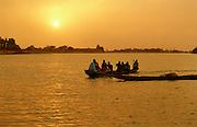 Africa - Sunset over Mosque - Podor Senegal