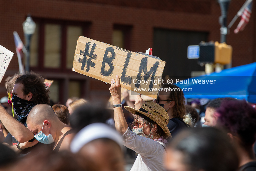 """About 200 people attended a Black Lives Matter protest at Williamsport City Hall which was co-sponsored by Lycoming Tri-County NAACP and """"If Not Us, Then Who?"""""""