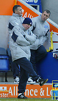 Foto: Digitalsport<br /> NORWAY ONLY<br /> Leicester v Wolverhampton<br /> 28th February 2004<br /> <br /> LEICS ALAN CORK KNOWS THEY HAVE THROWN POINTS AWAY