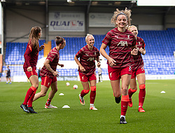 BIRKENHEAD, ENGLAND - Sunday, August 29, 2021: Liverpool's Leanne Kiernan during the pre-match warm-up before the FA Women's Championship game between Liverpool FC Women and London City Lionesses FC at Prenton Park. (Pic by Paul Currie/Propaganda)