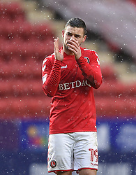 Charlton Athletic's Jake Forster-Caskey applauds the fans after the final whistle