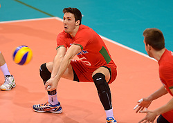 20150619 NED: World League Nederland - Portugal, Groningen<br /> De Nederlandse volleyballers hebben in de World League ook hun eerste duel met Portugal met 3-0 gewonnen / Marco Ferreira POR