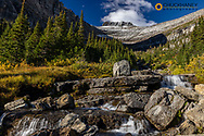 Lunch Creek with Pollock Mountain in Glacier National Park, Montana, USA