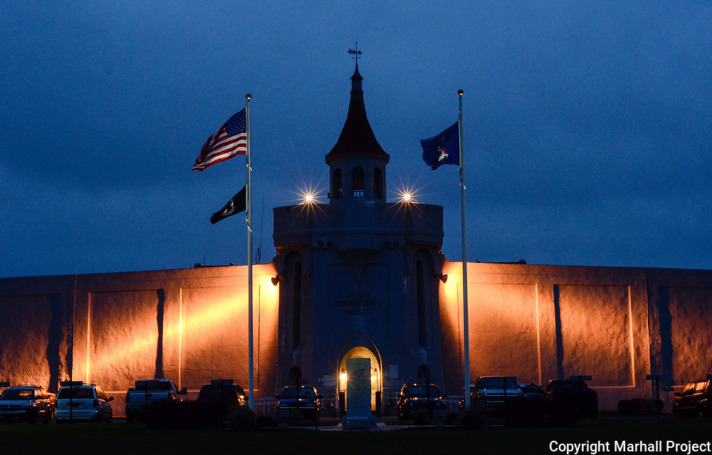 The front entrance of Attica Prison in Attica, N.Y., Wedneday, Nov. 15, 2017. <br /> (Photo by Heather Ainsworth)