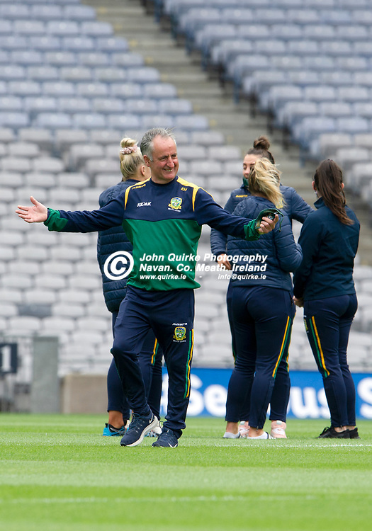 26-06-21. Meath v Kerry - Lidl Ladies National Football League Division 2 Final at Croke Park.<br /> Eamonn Murray, Meath Manager.<br /> Photo: John Quirke / www.quirke.ie<br /> ©John Quirke Photography, 16 Proudstown Road, Navan. Co. Meath. (info@quirke.ie / 046-9028461 / 087-2579454).