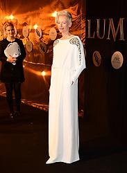Tilda Swinton attending the BFI Luminous Fundraising Gala held at the Guildhall, London.