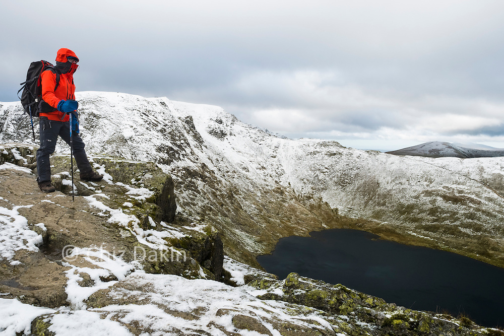 There's a good view over Red Tarn from Striding Edge