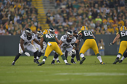 Travis Raciti #78 of the Philadelphia Eagles against the Green Bay Packers at Lambeau Field on August 29, 2015 in Green Bay, Pennsylvania. The Eagles won 39-26. (Photo by Drew Hallowell/Philadelphia Eagles)