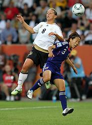 09-07-2011 VOETBAL: FIFA WOMENS WORLDCUP 2011 GERMANY - JAPAN: WOLFSBURG<br /> Inka Grings (GER) gegen Azusa Iwashimizu (JPN) <br /> ***NETHERLANDS ONLY***<br /> ©2011-FRH- NPH/Karina Hessland