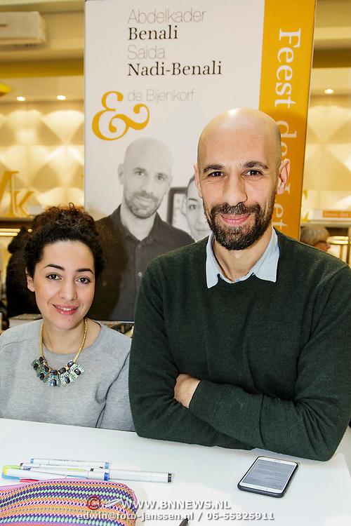 NLD/Amsterdam/20150228 - Feest der Letteren 2015, Abdelkadar Benali en partner Saida Nadi