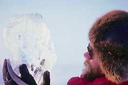 Geoff Carroll Looking At Piece Of Ice