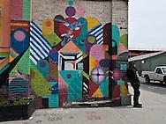 New York  williamsburg , mural art, trendy area  for artists in Brooklyn New York, Brooklyn - United states   / Williamsburg quartier branche de  Brooklyn, New York - Etats unis