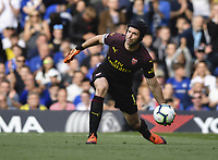 Football - 2018 / 2019 Premier League - Chelsea vs. Arsenal<br /> <br /> Arsenal's Petr Cech in action during todays game, at Stamford Bridge.<br /> <br /> COLORSPORT/ASHLEY WESTERN
