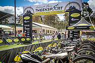 Riders crossing the finish line of the spectacular Ladismith Cheese 7Weekspoort MTB Challenge, on the 1st October 2016<br /> <br /> Photo by:    /Oakpics/ SPORTZPICS<br /> <br /> <br /> {dem16gst}