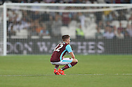Sam Byram of West Ham United dejected after the final whistle. UEFA Europa league, 1st play off round match, 2nd leg, West Ham Utd v Astra Giurgiu at the London Stadium, Queen Elizabeth Olympic Park in London on Thursday 25th August 2016.<br /> pic by John Patrick Fletcher, Andrew Orchard sports photography.