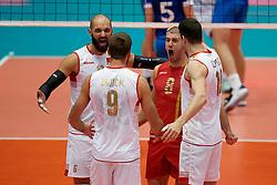 14-09-2019 NED: EC Volleyball 2019 Estonia - Montenegro, Rotterdam<br /> First round group D - Montenegro win 3-0 / Vojin Cacic #6 of Montenegro, Nikola Lakcevic #8 of Montenegro