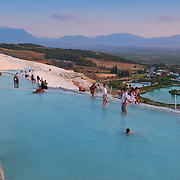 The Big Travertine Pool in Pamukkale, Turkey