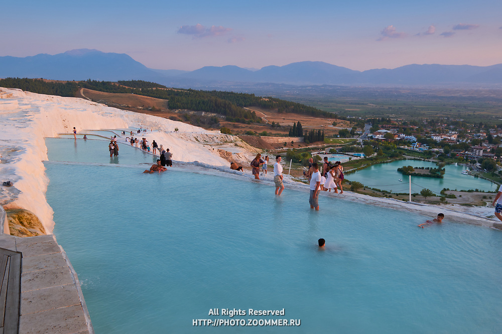 The Big Travertine Pool in Pamukkale, Turkey