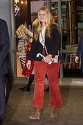 Koning Willem-Alexander en prinses Amalia zijn aanwezig in de RAI tijdens de wereldbeker springen bij Jumping Amsterdam.<br /> <br /> King Willem-Alexander and princess Amalia are present at the RAI during the World Cup jumping at Jumping Amsterdam.<br /> <br /> Op de foto:   prinses Amalia / princess Amalia