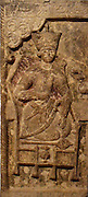 Limestone panel from a frieze showing the legendary Iranian hero Kaykhusrau.  Iran, late 18th century.  The 'Sasanian revival' was a result of a conscious effort on the part of the Quajar Shahs of Iran, especially Faith 'Ali Shah (ruled 1798-1834).