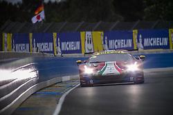 June 14, 2018 - Le Mans, FRANCE - 71 AF CORSE (ITA) FERRARI 488 GTE EVO GTE PRO DAVIDE RIGON (ITA) SAM BIRD (GBR) MIGUEL MOLINA  (Credit Image: © Panoramic via ZUMA Press)