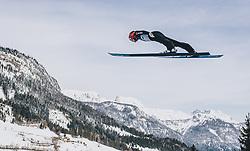 15.02.2020, Kulm, Bad Mitterndorf, AUT, FIS Ski Flug Weltcup, Kulm, Herren, im Bild Stephan Leyhe (GER) // Stephan Leyhe (GER) during his Jump for the men's FIS Ski Flying World Cup at the Kulm in Bad Mitterndorf, Austria on 2020/02/15. EXPA Pictures © 2020, PhotoCredit: EXPA/ JFK