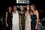 Afef Tronchetti Provera, JOAN SMALLS; MARGARET MADE; ISABEL FONTANA; NATASHA Poll ;; , The Global launch of the 2012 Pirelli Calendar by Mario Sorrenti.  Dinner at the Park Avenue Armory. Manhattan. 6 December 2011.