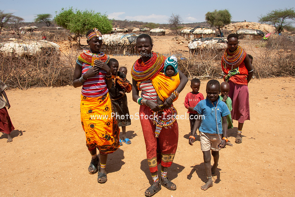 Village of the Samburu tribe. The Samburu are a Nilotic people of north-central Kenya. Samburu are semi-nomadic pastoralists who herd mainly cattle but also keep sheep, goats and camels.