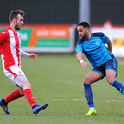TELFORD COPYRIGHT MIKE SHERIDAN 9/2/2019 - Brendon Daniels of AFC Telford during the Vanarama Conference North fixture between Brackley Town and AFC Telford United at St James' Park.