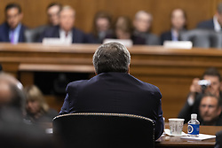 May 1, 2019 - Washington, District of Columbia, United States - Attorney General WILLIAM BARR testifies before the Senate Judiciary Committee shortly after reports reveal that Special Counsel ROBERT MUELLER objected to the conclusions of BARR's summary of MUELLER report into Russian interference into the 2016 presidential election. May 1, 2019 (Credit Image: © Douglas Christian/ZUMA Wire)