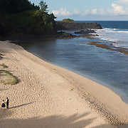 Gris Gris Beach along the Southern Coast of Mauritius. This beautiful beach is almost always deserted on weekdays - it can be seen from the overlook near the parking lot and a staircase leads down below. Find it by winding through backroads in the town of Souillac.