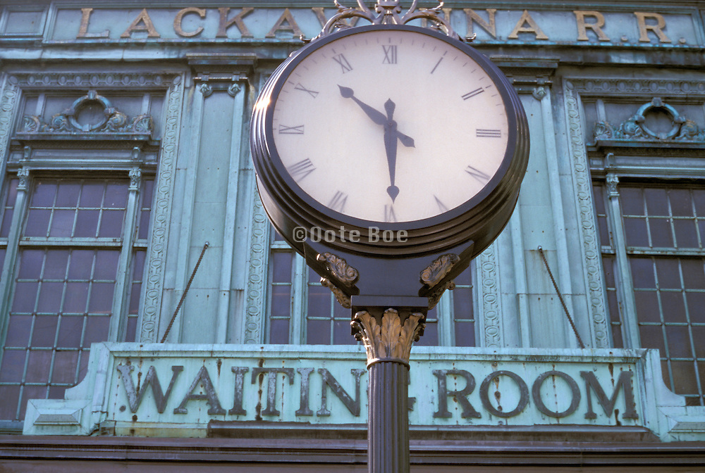 out door clock in front of a waiting room
