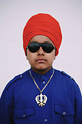 Gurjot Singh, 7, poses for a photo during the 26th annual Khalsa Day Celebration at the Showare Center in Kent, Saturday, May 26, 2018. Thousands of members of the Sikh community attended the event which included free food, martial arts demonstrations and a parade.