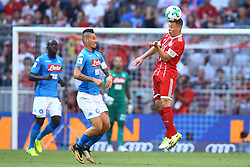 August 2, 2017 - Munich, Germany - Marek Hamsik of Napoli and Joshua Kimmich of Bayern during the Audi Cup 2017 match between SSC Napoli v FC Bayern Muenchen at Allianz Arena on August 2, 2017 in Munich, Germany. (Credit Image: © Matteo Ciambelli/NurPhoto via ZUMA Press)