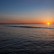 Today's   sunrise at Narragansett Town Beach,  .  April  7, 2013.