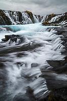 Brúarfoss waterfall in South Iceland.