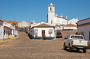 Rural settlement village cobbled streets, Entradas, near Castro Verde, Baixo Alentejo, Portugal, Southern Europe