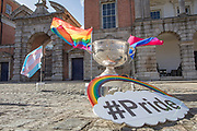 NO FEE PICTURES<br /> 22/5/20 at the launch of the Digital Dublin Pride Festival tomorrow, May 22nd, to coincide with the 5th anniversary of Ireland voting Yes to Marriage Equality. Even though this year we will have a Digital Festival and a Virtual Parade, by working together and all taking part, we will still achieve the same sense of community, solidarity and empowerment that Pride gives. Further Information contact Eddie McGuinness 0863884242 Picture: Arthur Carron.