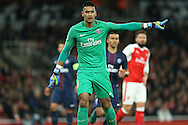 Goalkeeper Alphonse Areola of Paris Saint-Germain in action. UEFA Champions league group A match, Arsenal v Paris Saint Germain at the Emirates Stadium in London on Wednesday 23rd November 2016.<br /> pic by John Patrick Fletcher, Andrew Orchard sports photography.