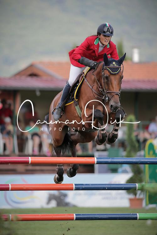 Bianchi Matilde Giorgia (ITA) - Una Bella HS<br /> FEI European Jumping Championship for young riders <br /> Arezzo 2014<br /> © Hippo Foto - Stefano Secchi