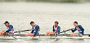 Tampere Kaukajaervi,  FINLAND.   Men's Four, GBR M4-.  Bow, Rupert OBHOLZER, Jonny SEARLE, Greg SEARLE and Tim FOSTER, competing at the 1995 World Rowing Championships - Lake Tampere, 08.1995<br /> <br /> [Mandatory Credit; Peter Spurrier/Intersport-images] Re-Edited and file ref No. updated, 16th January 2021.
