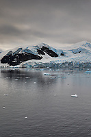Panorama of Paradise Harbor and Brown Station (Estación Científica Almirante Brown) in Antarctica from the Deck of the Hurtigruten MS Fram. (2 of 16) Image taken with a Fuji X-T1 camera and Zeiss 32 mm f/1.8 lens (ISO 200, 32 mm, f/16, 1/500 sec). Raw images processed with Capture One Pro, Focus Magic, Photoshop CC 2015, and AutoPano Giga Pro