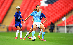 Jill Scott of Manchester City Women tries to hold off Jonna Andersson of Chelsea Women- Mandatory by-line: Nizaam Jones/JMP - 29/08/2020 - FOOTBALL - Wembley Stadium - London, England - Chelsea v Manchester City - FA Women's Community Shield
